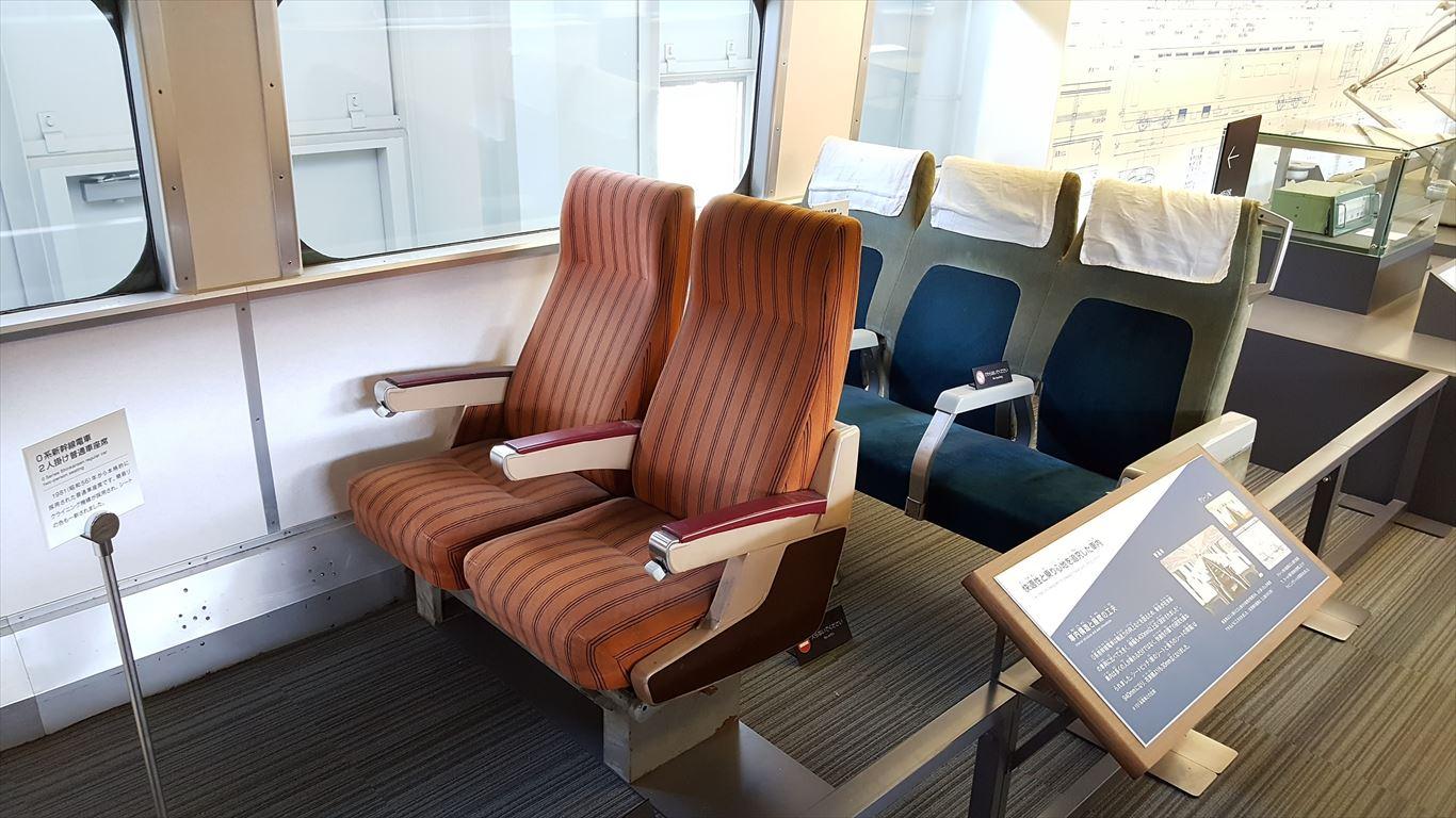 昔の新幹線の座席